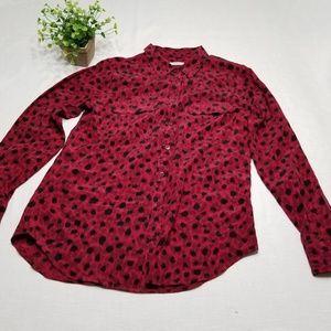 Equipment Femme Size Medium Silk Blouse EE41